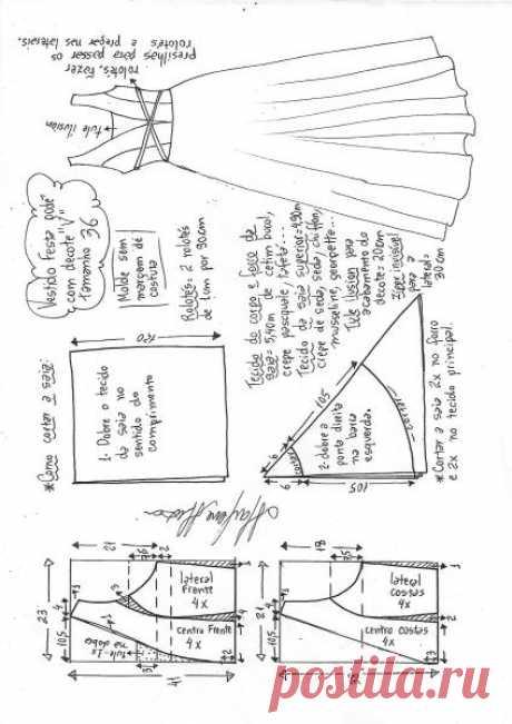 Платье godê с V-образным вырезом | DIY прессформа, вырезывание и шить - Марлен Mukai