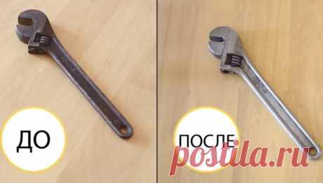 Как удалить ржавчину с инструментов, болтов и гаек