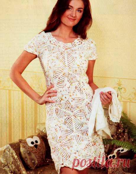 Платья для девушек, вязанные спицами и крючком. Интересная подборка. | Мой вариант | Яндекс Дзен