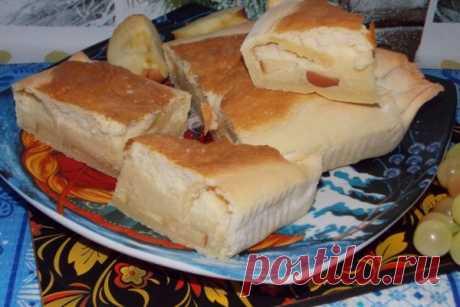 Десертный пирог с воздушной начинкой и яблоками | CityWomanCafe.com