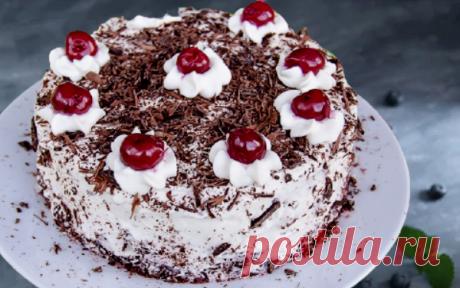 """Вы просили рецепт торта """"Черный лес"""" как в ресторане. Специально для вас - Вишневый торт Шварцвальд от шефа   ChocoYamma   Яндекс Дзен"""