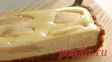 Шоколадный пирог с грушами и творогом, пошаговый рецепт с фото