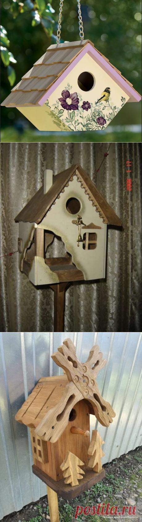 Птичьи коттеджи: идеи красивых скворечников своими руками | FORUMHOUSE | Яндекс Дзен