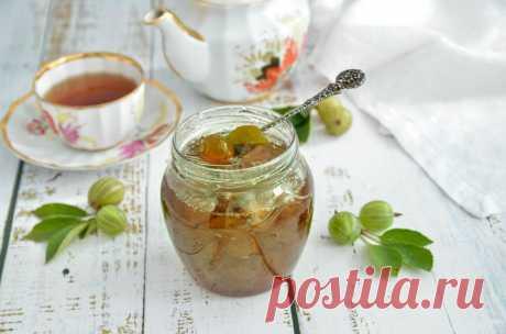 Царское изумрудное варенье из крыжовника с вишневым листом рецепт с фото пошагово и видео