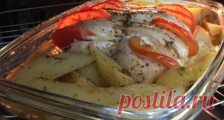 Вкусное горячее блюдо из картофеля и мяса
