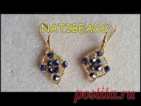NIGTH BLUE EARRINGS - YouTube