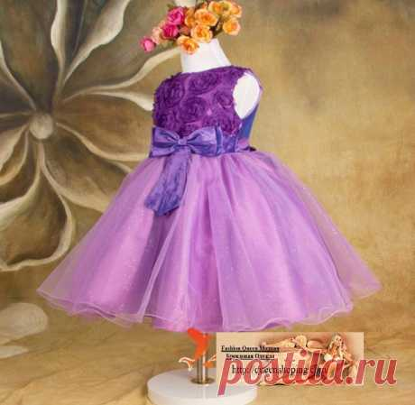 Платье ( ChiL 07 ) Размер: 90  100, 110, 120, 130, 140,150 Подкладка: хлопок + атлас Ткань: Шифон