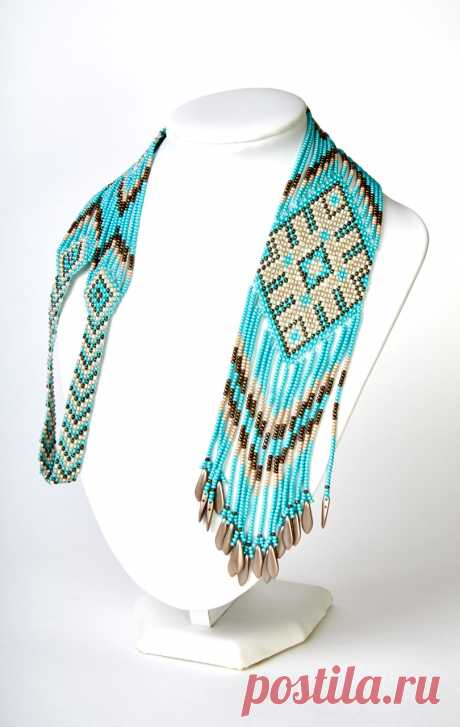 Turquoise gerdan | biser.info - all about beads and beaded creativity