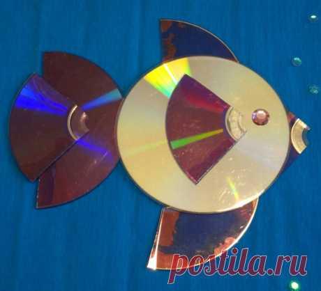 Поделки из дисков - простая инструкция создания необычной поделки из дисков своими руками + красивые идеи для начинающих с фото-примерами