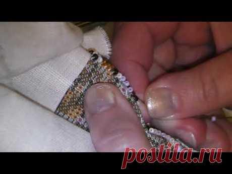 Процесс вышивки в тишине...вышивка бисером