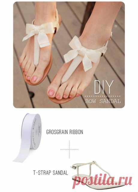 Как украсить шлепки (мастер-класс) / Обувь / Модный сайт о стильной переделке одежды и интерьера