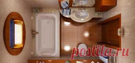 Варианты планировок маленькой ванной и советы по обустройству | Мой дом