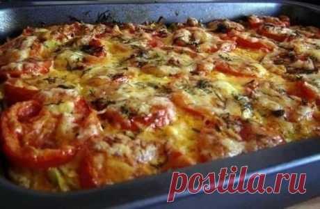 Как приготовить запеканка из кабачков с фаршем и помидорами - рецепт, ингридиенты и фотографии