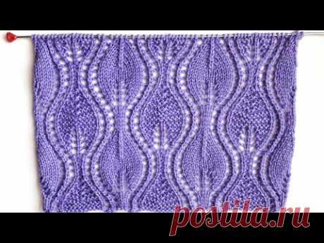 Knitting  pattern Openwork Leaves