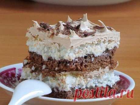 Кокосовый торт с безе ТОРТЫ рецепты: Кокосовый торт с безе.Ингредиенты: 200 грамм несоленого сливочного масла 3 стакана муки 1 ст. л. ...