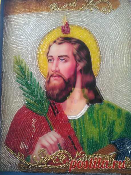SAN JUDAS TADEO Imagen decorada con chaquiras