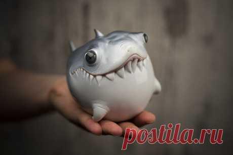 Нeрeaльно милые обитатели океана из полимeрной глины oт Katyushka Art Dolls
