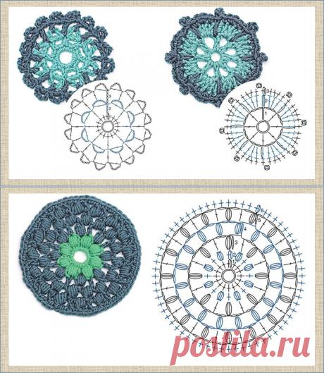 Круглые мотивы крючком - 60 образцов с отличными схемами - в копилку мастерицы   МНЕ ИНТЕРЕСНО   Яндекс Дзен