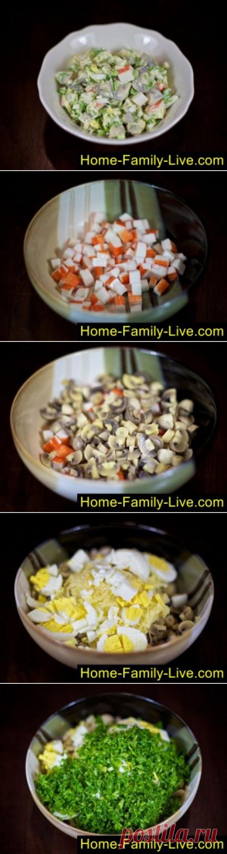 La ensalada de las varitas de centolla - poshagovyy fotoretseptkulinarnye las recetas