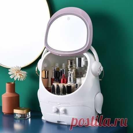 5489.75руб. 30% СКИДКА|Косметический Органайзер с зеркалом, светодиодный светильник, большая емкость, шкатулка для косметики, органайзер для ухода за кожей, губная помада, косметическая коробка для хранения| |   | АлиЭкспресс Покупай умнее, живи веселее! Aliexpress.com