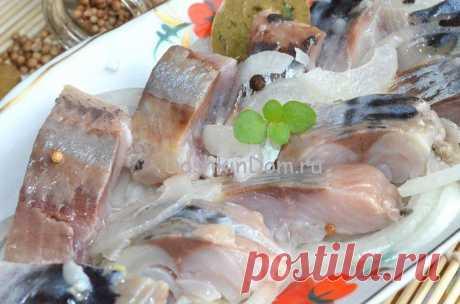 вкусная и нежная соленая рыбка за 2 час.