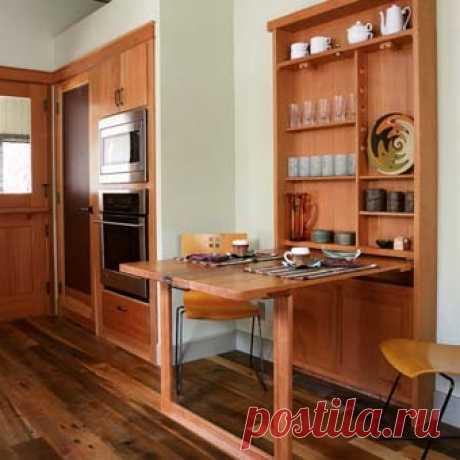 Интерьер кухни: используем практичный выдвижной стол - Учимся Делать Все Сами