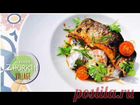 Как приготовить рыбу с овощами/Рецепт приготовления кефали с кабачками/Рецепты Александра Журкина