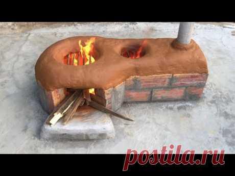 Уличная бездымная печь.
