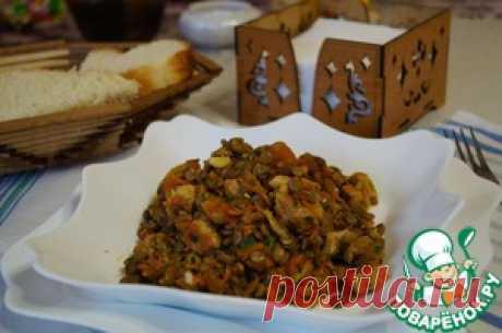 Чечевица с мясом и овощами - кулинарный рецепт