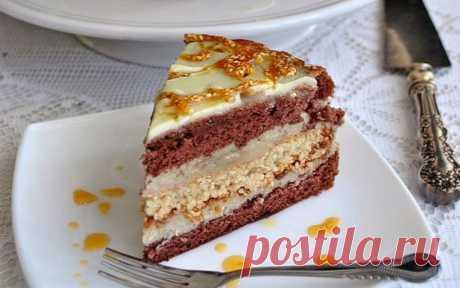Польский торт «Халва» — безумно вкусный - My izumrud Готовить его совершенно не сложно! Но итог вас точно порадует! Какао бисквит...