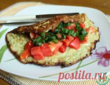 Кабачковый омлет с сыром и помидором – кулинарный рецепт