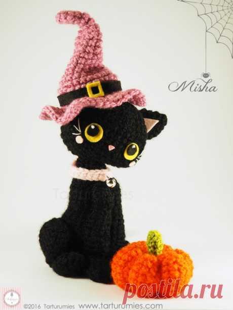 Amigurumi Patrón: Gatita Misha Halloween - Tarturumies