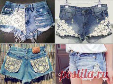 Шорты из джинсов - модные переделки