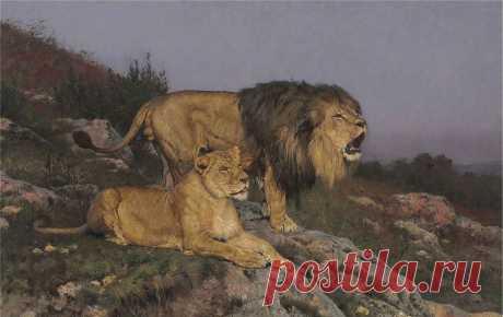 В мире считается символом власти, Много достоинств у мудрого льва...Géza Vastagh
