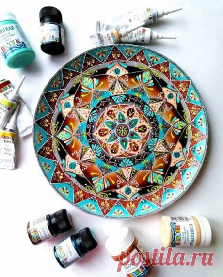 Роспись тарелки: мастер-класс