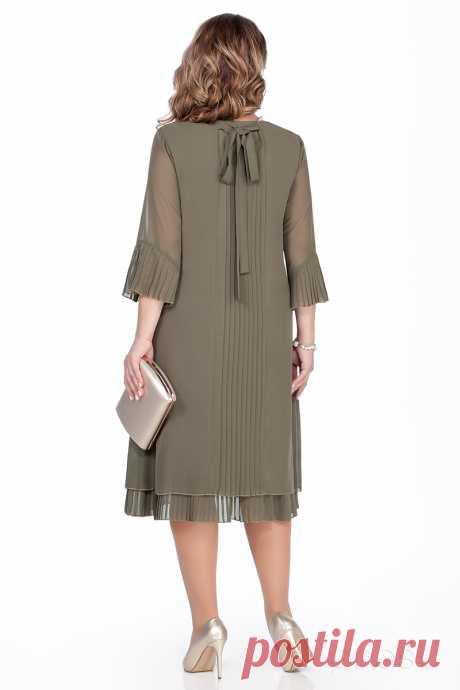 Платье TEZA 250 хаки - Женская одежда