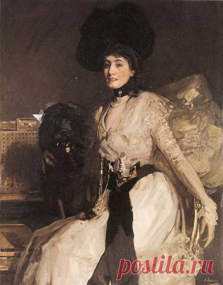 The Black Poodle by Sir John Lavery