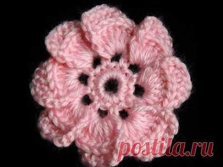 Crochet : Flor de 8 petalos