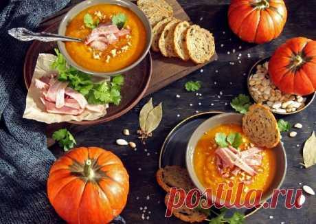 (9) Тыквенный суп пюре с копчёной грудинкой - пошаговый рецепт с фото. Автор рецепта Виктория Болотина . - Cookpad