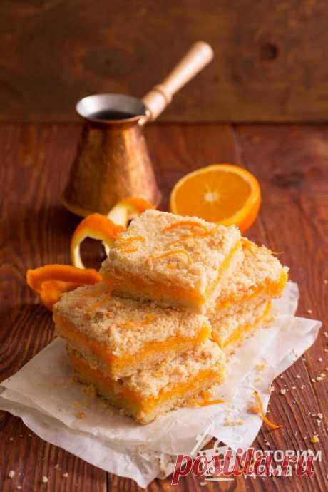 Насыпной пирог с тыквой - пошаговый рецепт с фото на Готовим дома