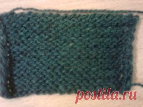 Изнаночная петля (два способа вязания). Purl (two ways of knitting).