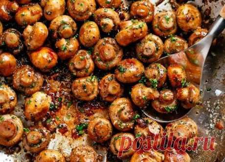 Чесночные грибы # грибы # рецепт # ужин # еда — Главная
