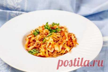 Тушеная капуста с фаршем — Sloosh – кулинарные рецепты