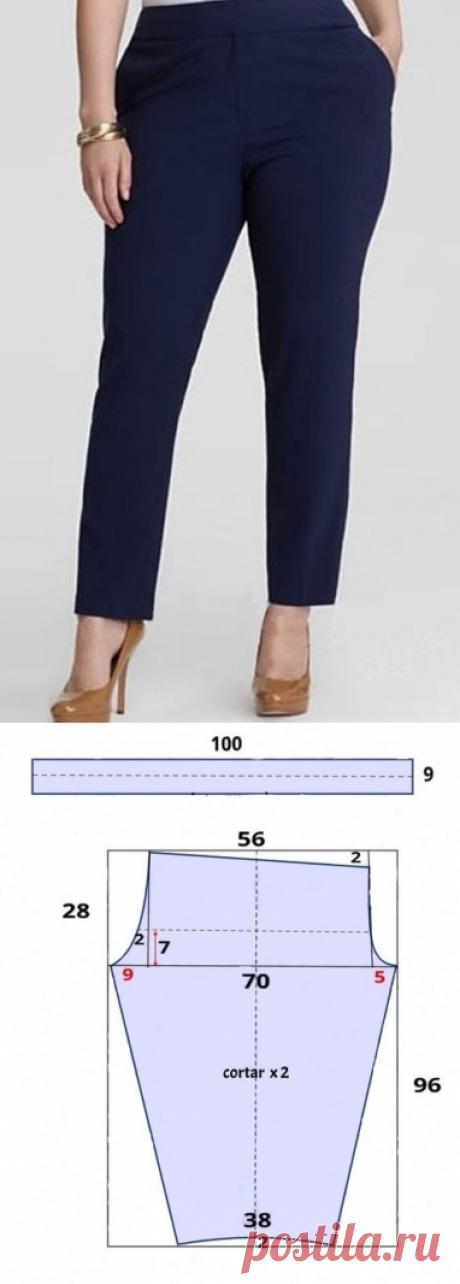 Узкие брючки на 54 размер – можно сшить за вечер! (Шитье и крой) – Журнал Вдохновение Рукодельницы