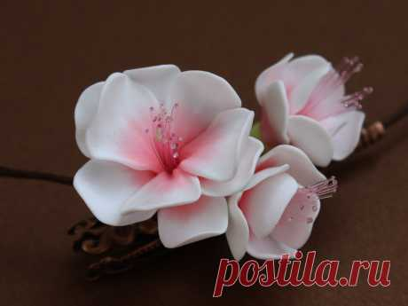 цветы из глины полимерной фото мастер класс