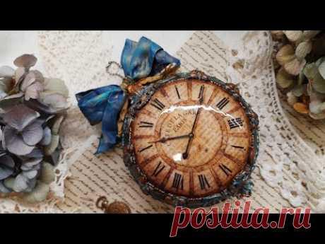 Flat vintage  bauble ♡♡♡ Decoupage tutorial