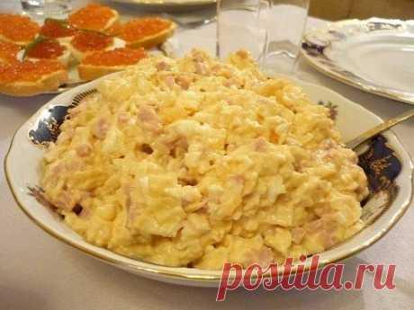 Как приготовить салат с ветчиной и ананасом - рецепт, ингридиенты и фотографии