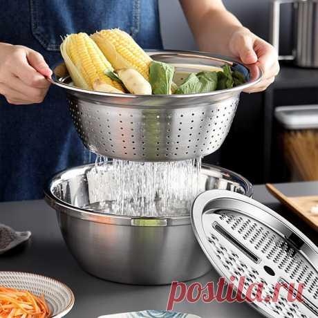 1043.93руб. 40% СКИДКА|3 шт./набор, кухонные терки, многофункциональные овощи, фрукты, терка для салата, резак, нержавеющая сталь, сливная раковина, кухонные аксессуары|Терки|   | АлиЭкспресс Покупай умнее, живи веселее! Aliexpress.com