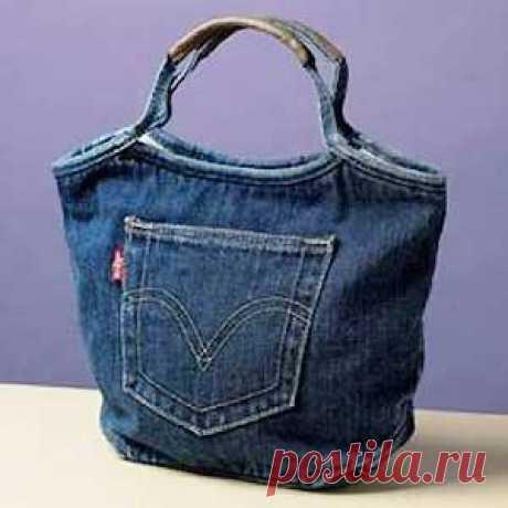 Выкройка сумки из джинсов - просто сшить! / Рукоделие