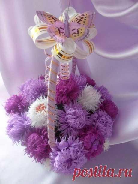 Вкусный букет из пушистых цветов — Сделай сам, идеи для творчества - DIY Ideas